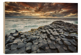 Wood print  An evening view of the Giant's Causeway - Nigel Hicks