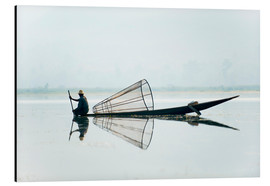 Aluminium print  A basket fisherman on Inle Lake - Alex Treadway
