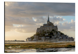 Aluminium print  Sunset light, Mont-Saint-Michel - Francesco Vaninetti