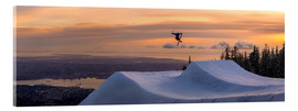 Tyler Lillico - Freestyle skier in the sunset