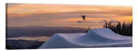 Canvas  Freestyle skier in the sunset - Tyler Lillico