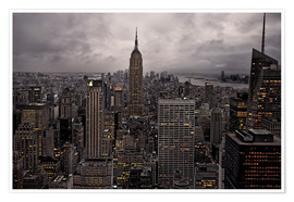 Premium poster New York city skyline from above
