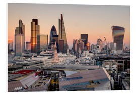 Foam board print  London skyline from St Pauls Cathedral - Charles Bowman