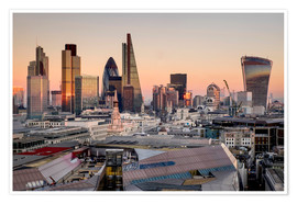 Premium poster  London skyline from St Pauls Cathedral - Charles Bowman