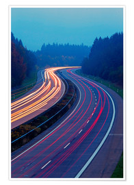 Premium poster Motorway A1 near Hermeskeil, Germany
