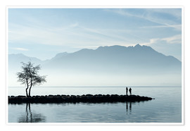 Premium poster  Lake Annecy, Savoie, France - Graham Lawrence
