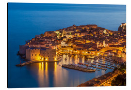 Aluminium print  Old port and old town Dubrovnik in the evening - Neale Clarke