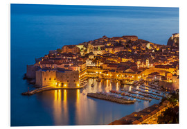Neale Clarke - Old port and old town Dubrovnik in the evening