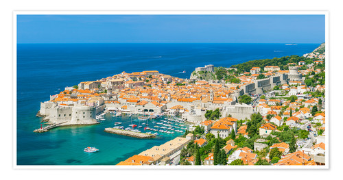 Premium poster Old Port and Dubrovnik Old Town