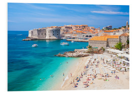 Foam board print  Old harbor and old town of Dubrovnik - Neale Clarke