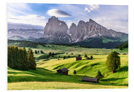 Foam board print  Alpe di Siusi South Tyrol - Achim Thomae