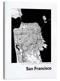 Canvas print  City map of San Francisco - 44spaces