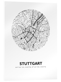 Acrylic print  City map of Stuttgart - 44spaces