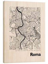 Wood  Map of Rome - 44spaces