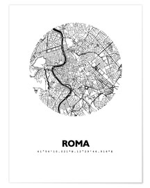 Premium poster  Map of Rome - 44spaces