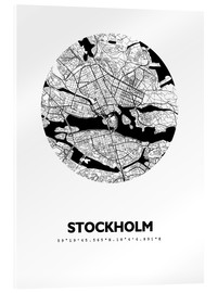 Acrylic glass  City map of Stockholm - 44spaces