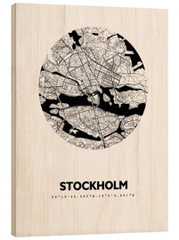 Wood  City map of Stockholm - 44spaces
