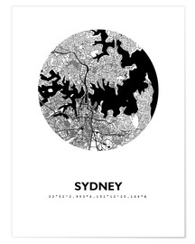 Premium poster City map of Sydney