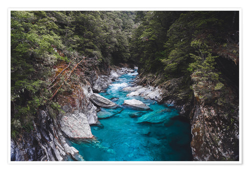 Premium poster Blue pools, Mount Aspiring National Park