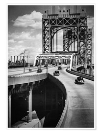 Premium poster  Historic New York - Triborough Bridge, Manhattan - Christian Müringer