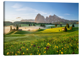 Canvas print  Spring on the Seiser Alm Südtirol - Achim Thomae