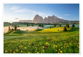 Poster  Spring on the Seiser Alm Südtirol - Achim Thomae