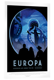 Acrylic print  Retro Space Travel - Europe