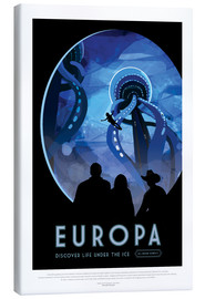 Canvas print  Retro Space Travel - Europe