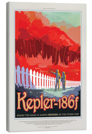 Canvas print  Retro Space Travel - Kepler186f