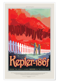Premium poster Retro Space Travel - Kepler186f
