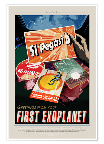 Premium poster Retro Space Travel - Pegasi51