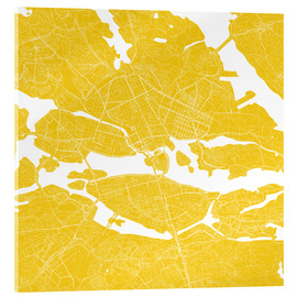 Acrylic print  City map of Stockholm - 44spaces