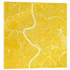 Acrylic glass  Map of Rome - 44spaces
