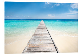 Acrylic print  Jetty on a lonely island in the Maldives - Jan Christopher Becke