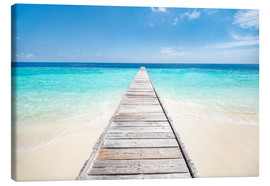 Canvas print  Jetty on a lonely island in the Maldives - Jan Christopher Becke