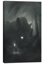 Canvas print  Face of Fear - Dawid Planeta