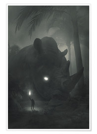 Premium poster  Face of Fear - Dawid Planeta