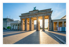 Premium poster  The Brandenburg Gate in Berlin - Jan Christopher Becke