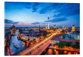 Acrylic print  The skyline of Berlin at night - Jan Christopher Becke