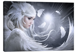 Canvas  White feathers - Elena Dudina