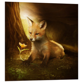 Foam board print  Little fox and the flower - Elena Dudina