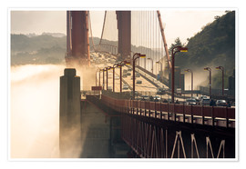 Premium poster San Francisco - Golden Gate Bridge in the fog