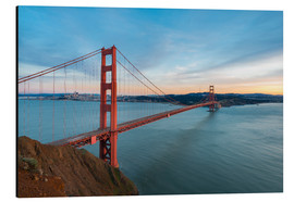 Aluminium print  San Francisco - Golden Gate Bridge at Sunset - Markus Kapferer