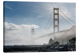 Canvas print  San Francisco - Fog at Golden Gate Bridge - Markus Kapferer
