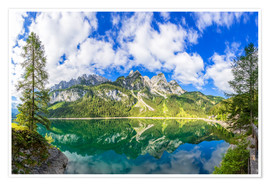 Premium poster Gosausee with dachstein view