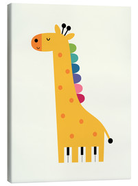 Canvas print  Giraffe piano - Andy Westface