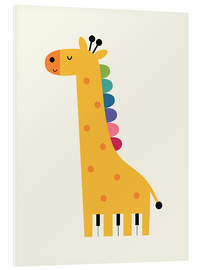 Foam board print  Giraffe piano - Andy Westface