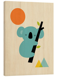 Wood print  Little dreamer - Andy Westface