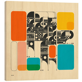 Wood print  SYSTEMS 17 - Jazzberry Blue