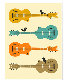 Premium poster BIRDS ON GUITAR STRINGS